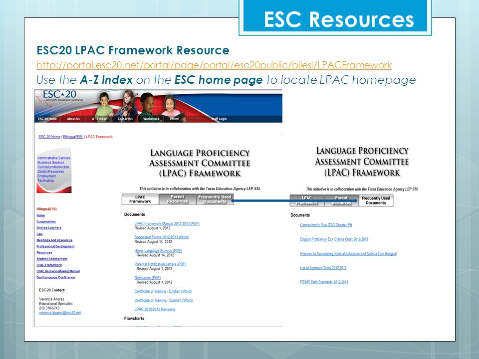 ESC Resources ESC20 LPAC Framework Resource