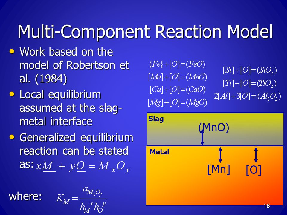 Multi-Component Reaction Model