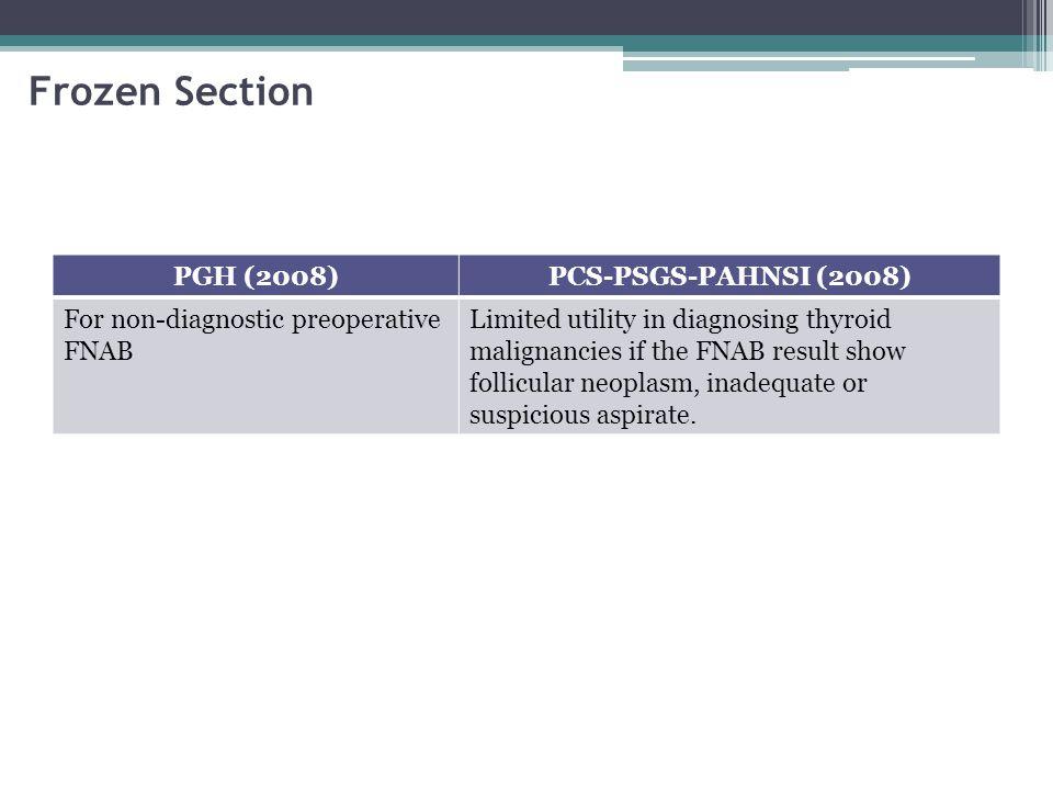 Frozen Section PGH (2008) PCS-PSGS-PAHNSI (2008)