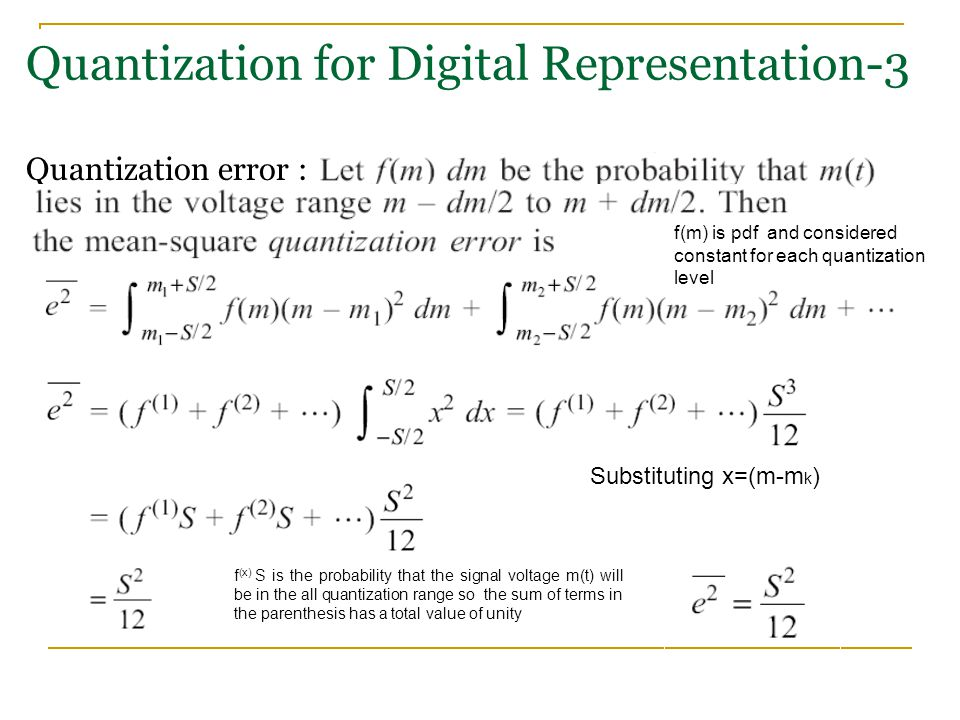 Quantization for Digital Representation-3