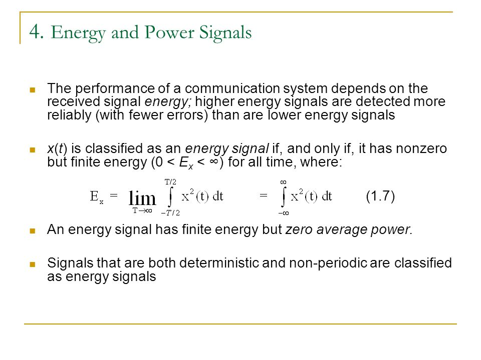 4. Energy and Power Signals