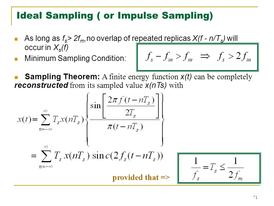 Ideal Sampling ( or Impulse Sampling)