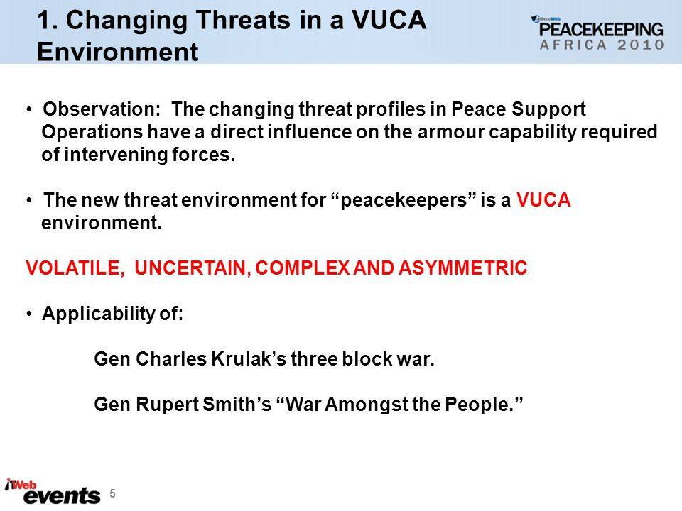 1. Changing Threats in a VUCA Environment