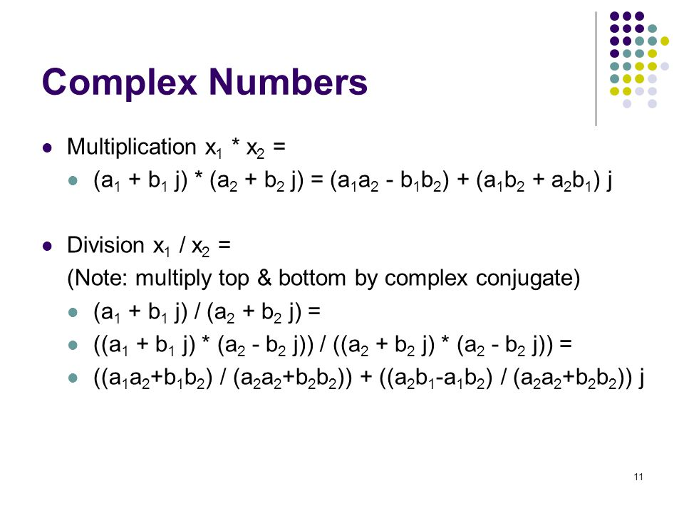 Complex Numbers Multiplication x1 * x2 =