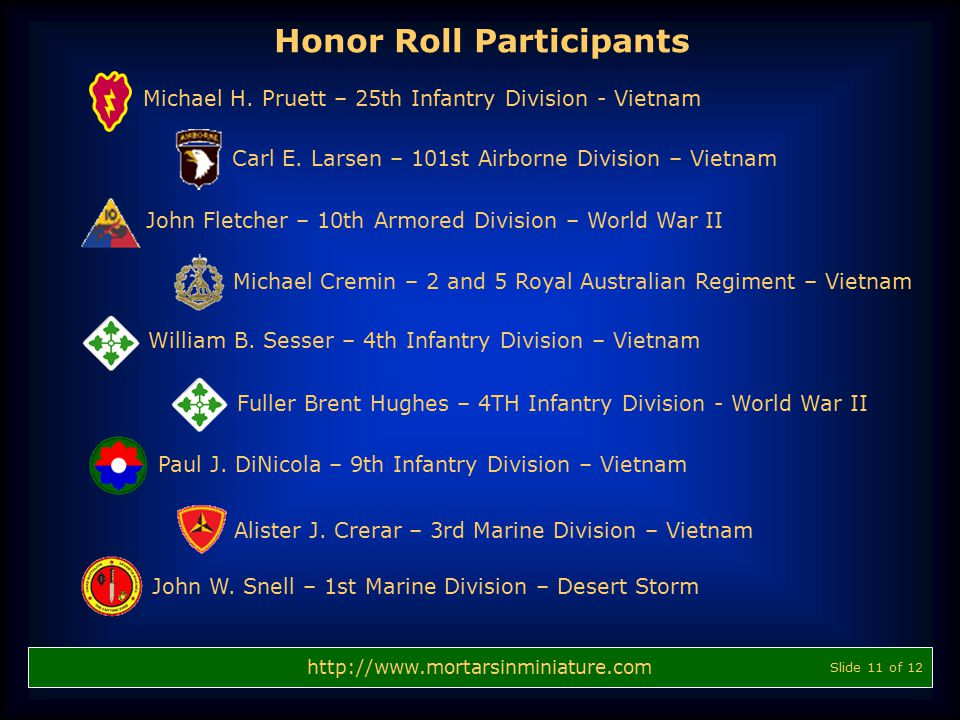 Honor Roll Participants