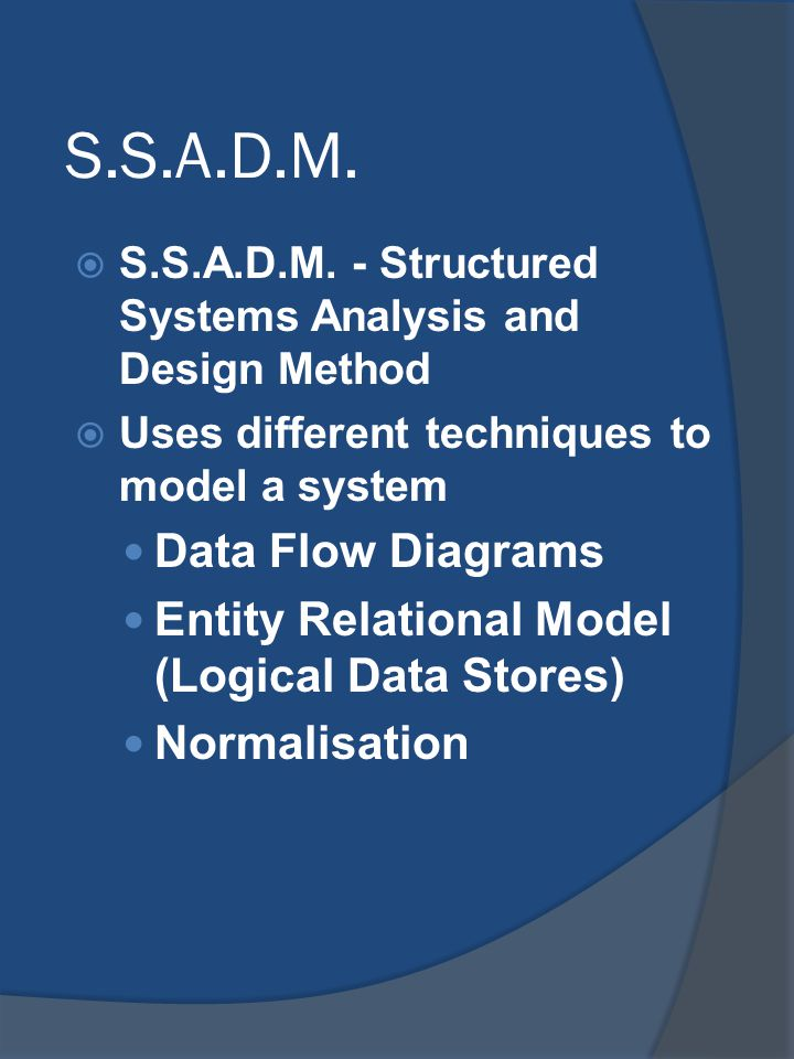 S.S.A.D.M. Data Flow Diagrams