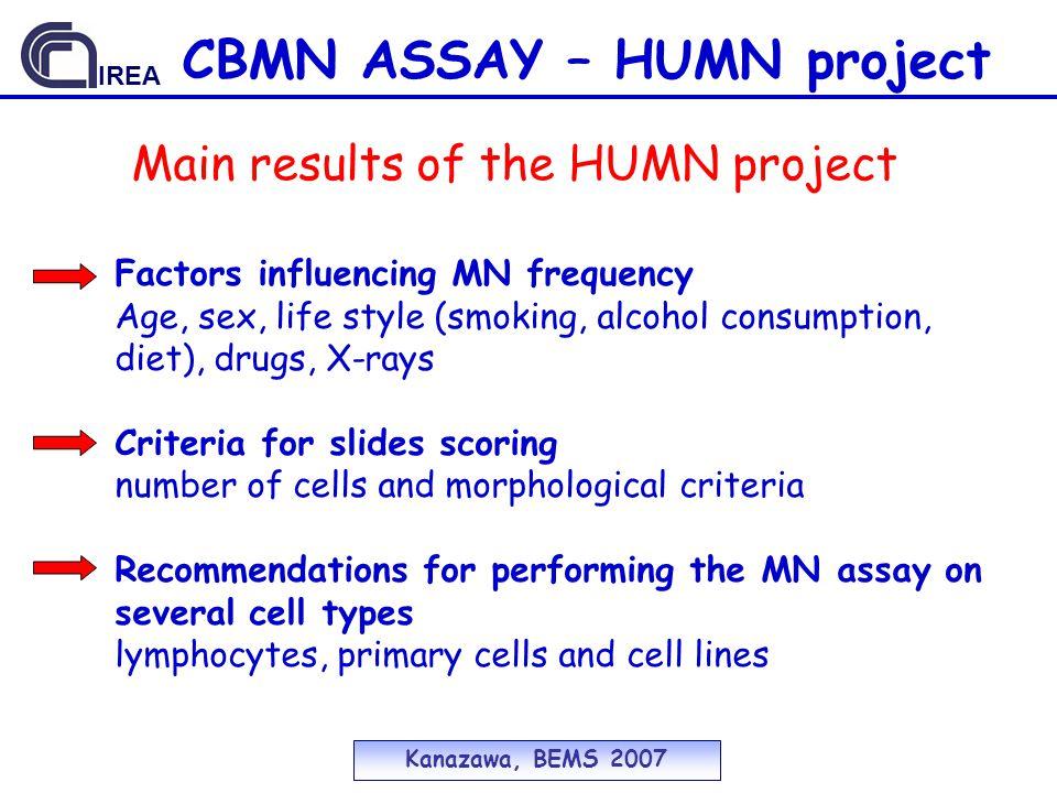 CBMN ASSAY – HUMN project