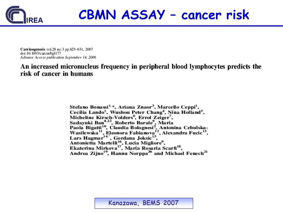 CBMN ASSAY – cancer risk