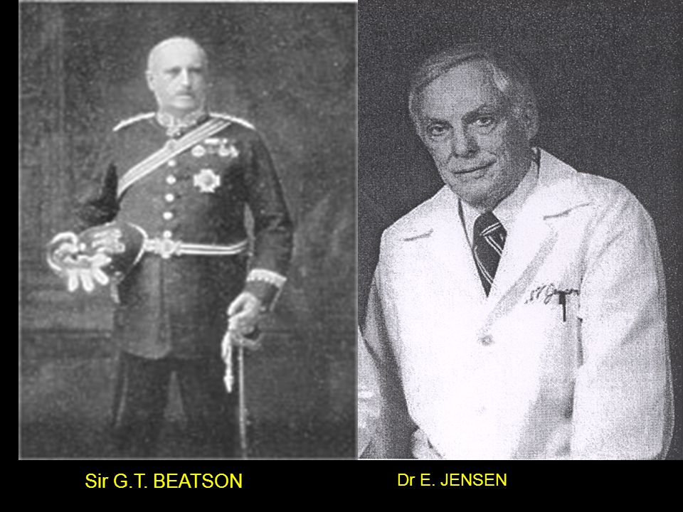 Sir G.T. BEATSON Dr E. JENSEN