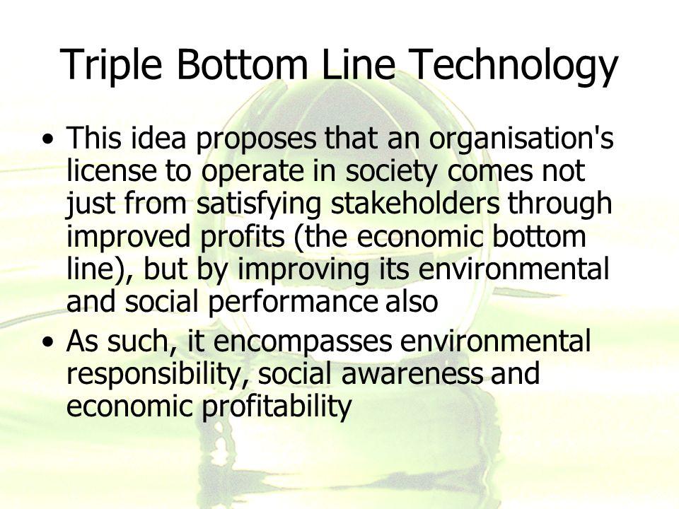 Triple Bottom Line Technology