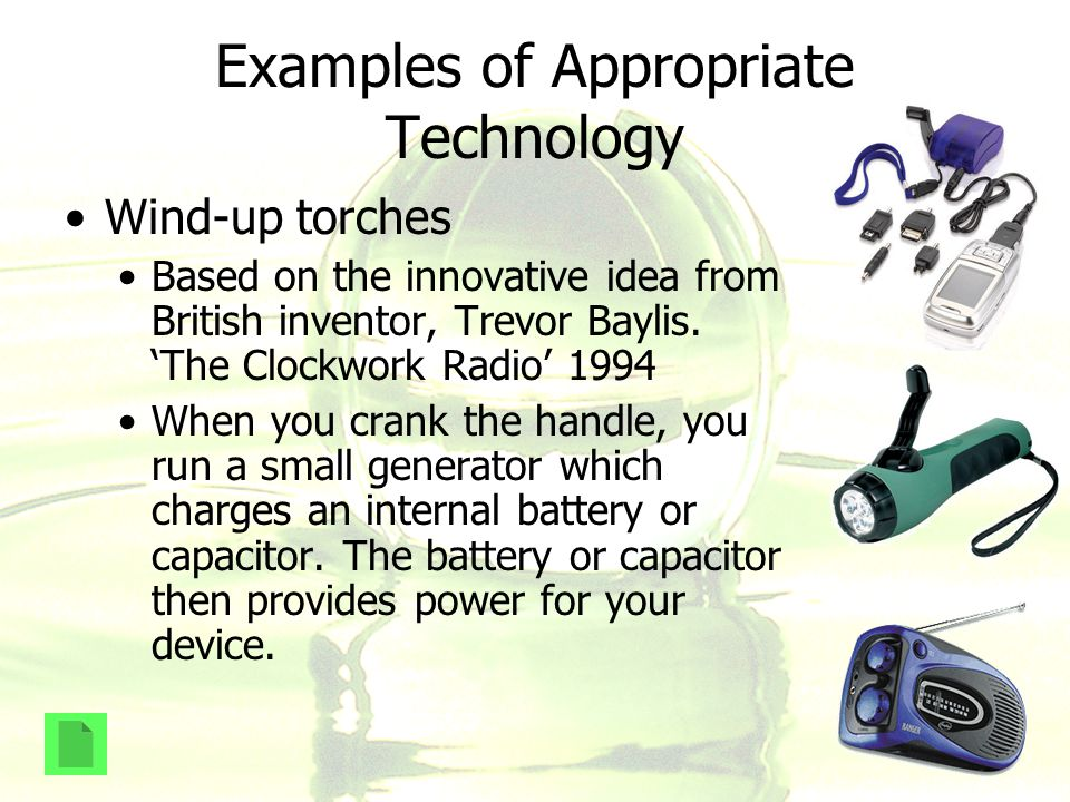 Examples of Appropriate Technology
