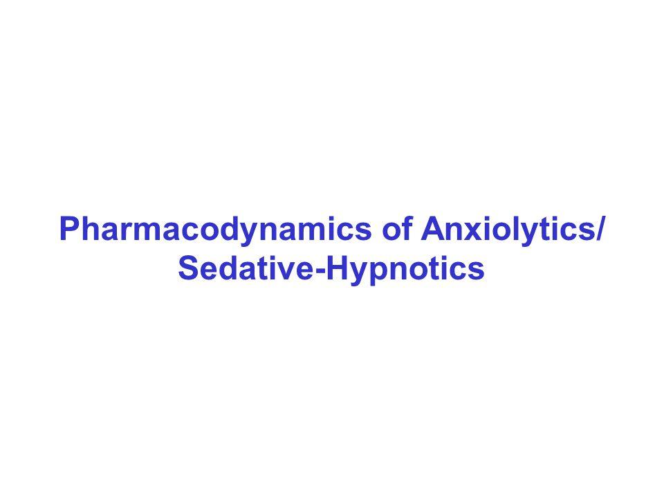 Pharmacodynamics of Anxiolytics/