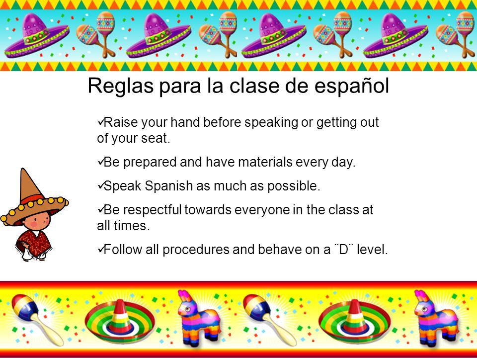 Reglas para la clase de español