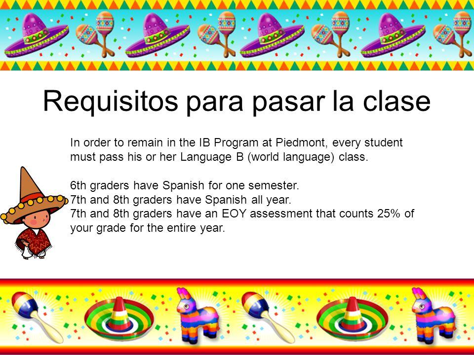 Requisitos para pasar la clase
