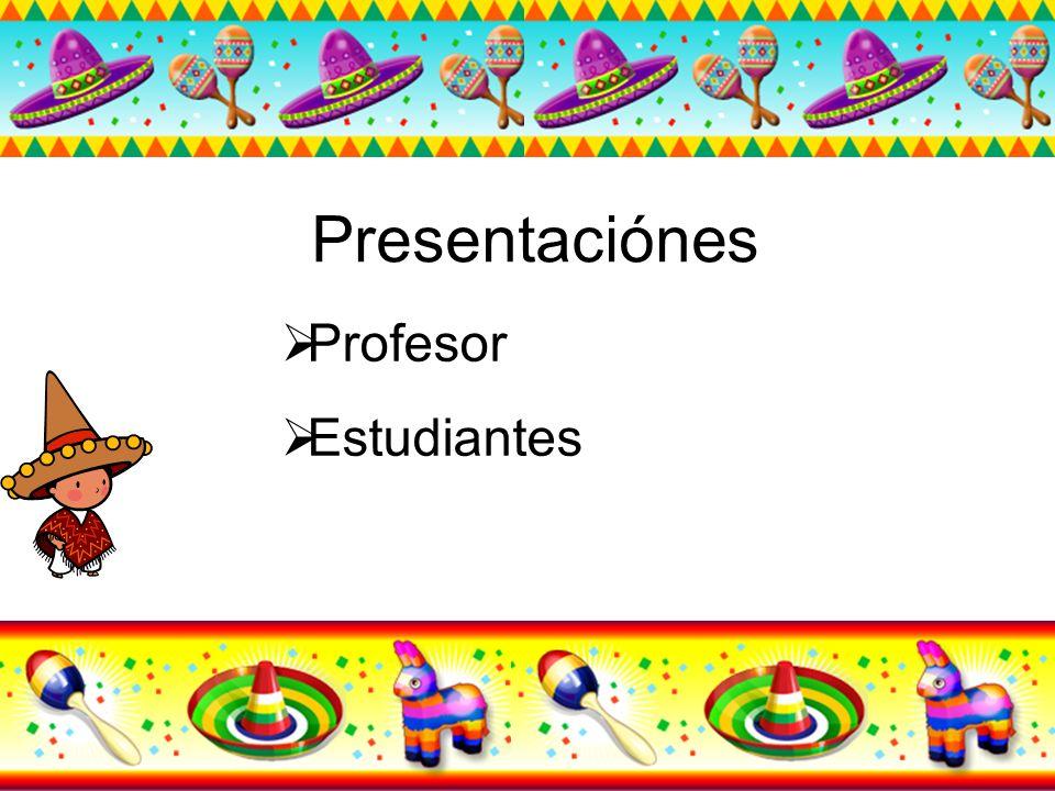 Presentaciónes Profesor Estudiantes