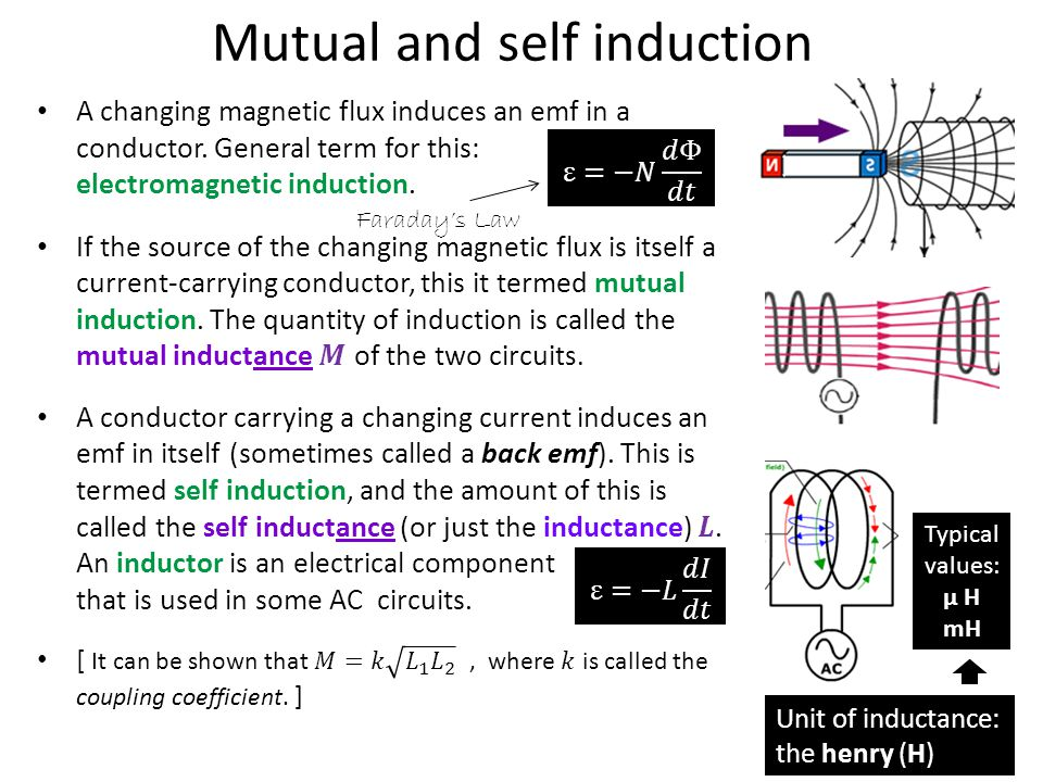 Mutual and self induction