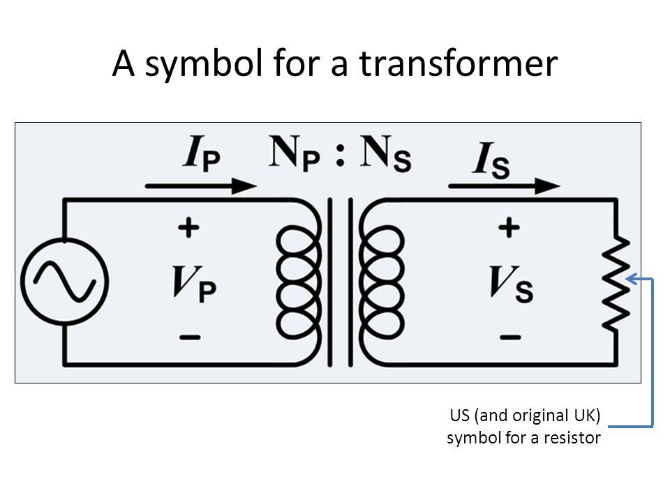 A symbol for a transformer