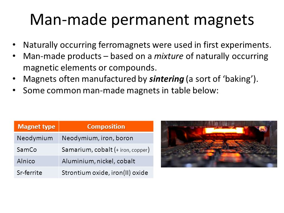 Man-made permanent magnets
