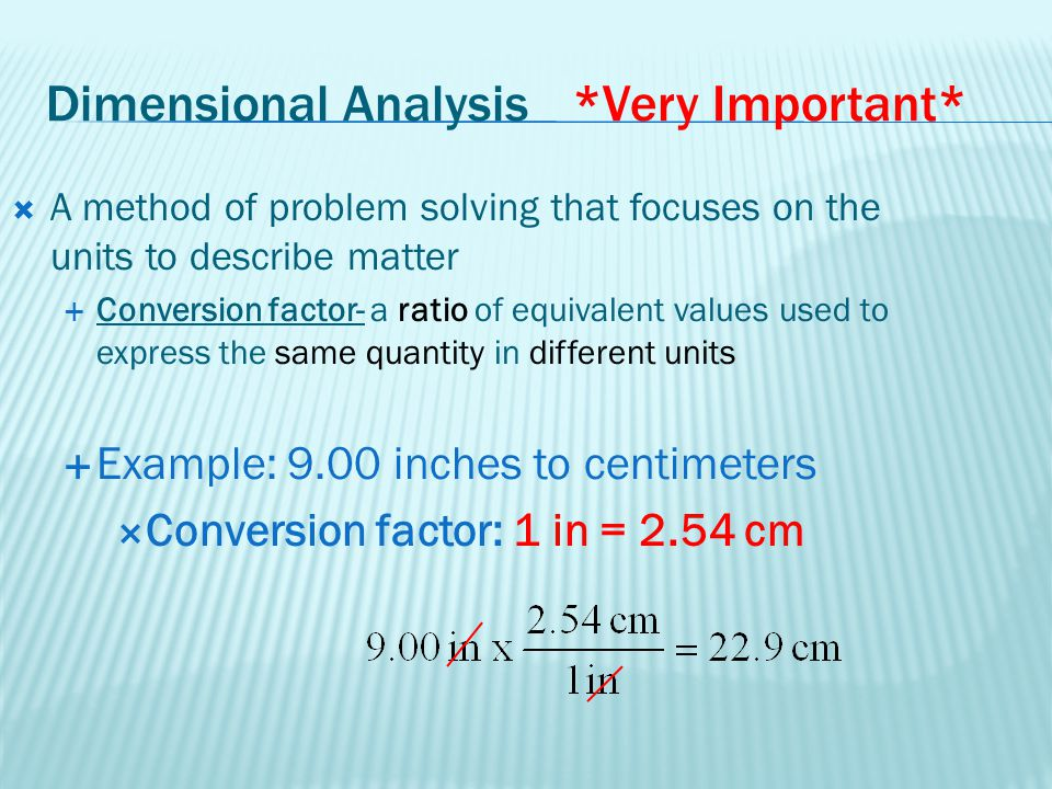 Dimensional Analysis *Very Important*
