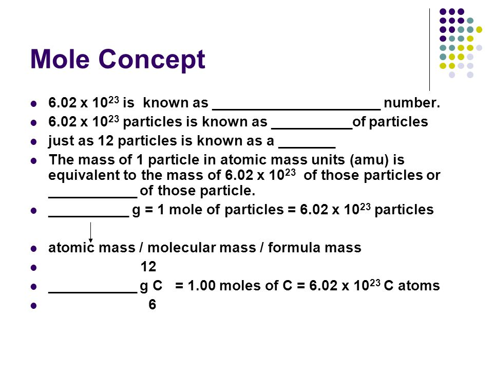 Mole Concept 6.02 x 1023 is known as _____________________ number.