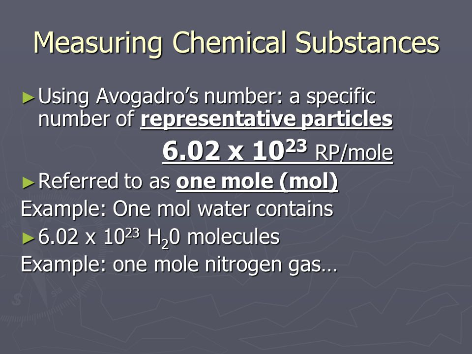 Measuring Chemical Substances