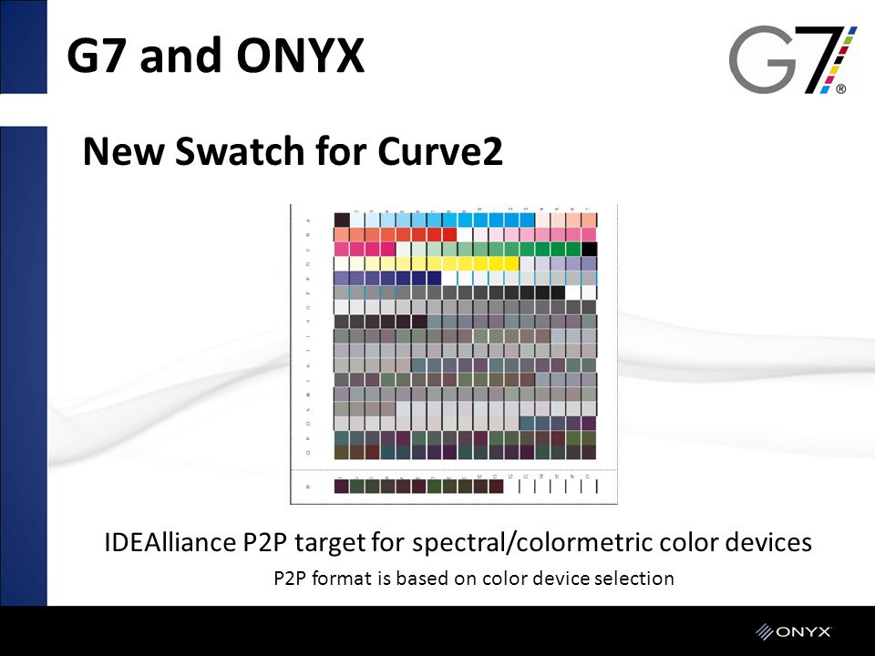 G7 and ONYX New Swatch for Curve2