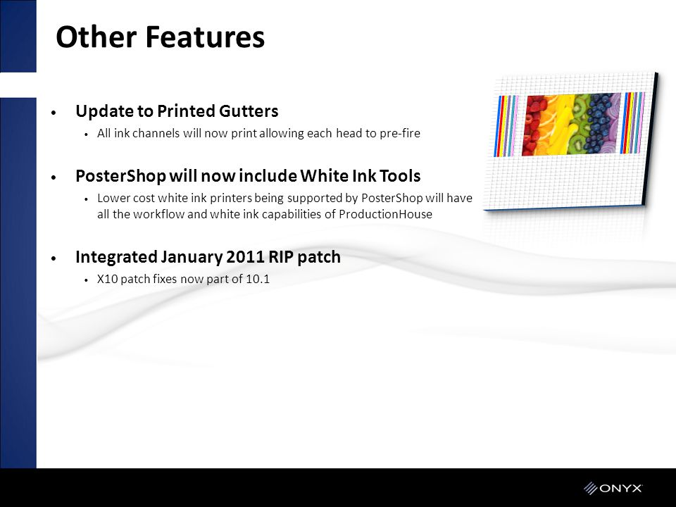 Other Features Update to Printed Gutters