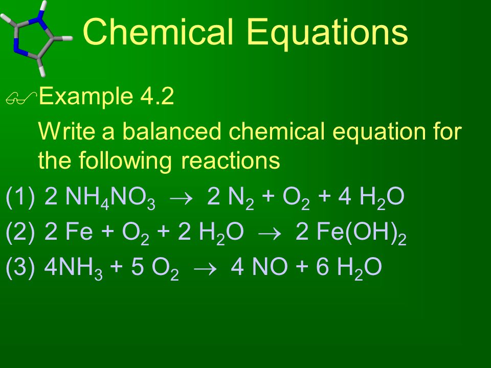 Chemical Equations Example 4.2