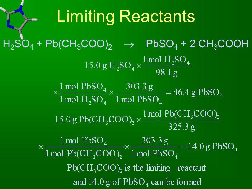 H2SO4 + Pb(CH3COO)2  PbSO4 + 2 CH3COOH