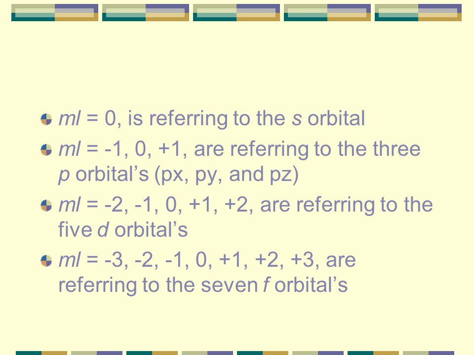 ml = 0, is referring to the s orbital