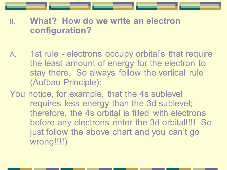 What How do we write an electron configuration