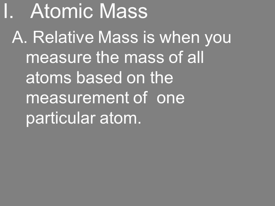 Atomic Mass A.