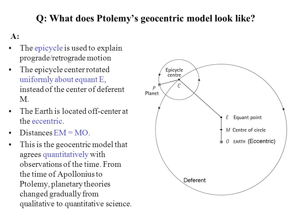 Q: What does Ptolemy's geocentric model look like