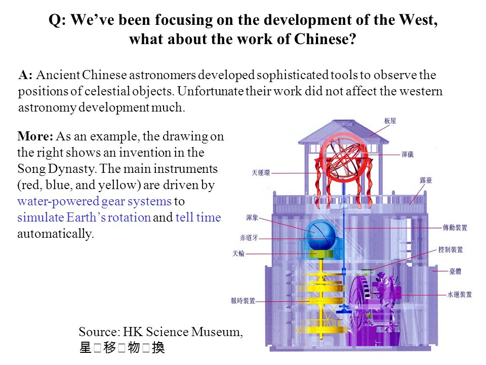 Q: We've been focusing on the development of the West, what about the work of Chinese