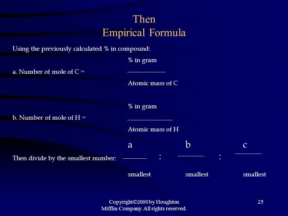 Then Empirical Formula