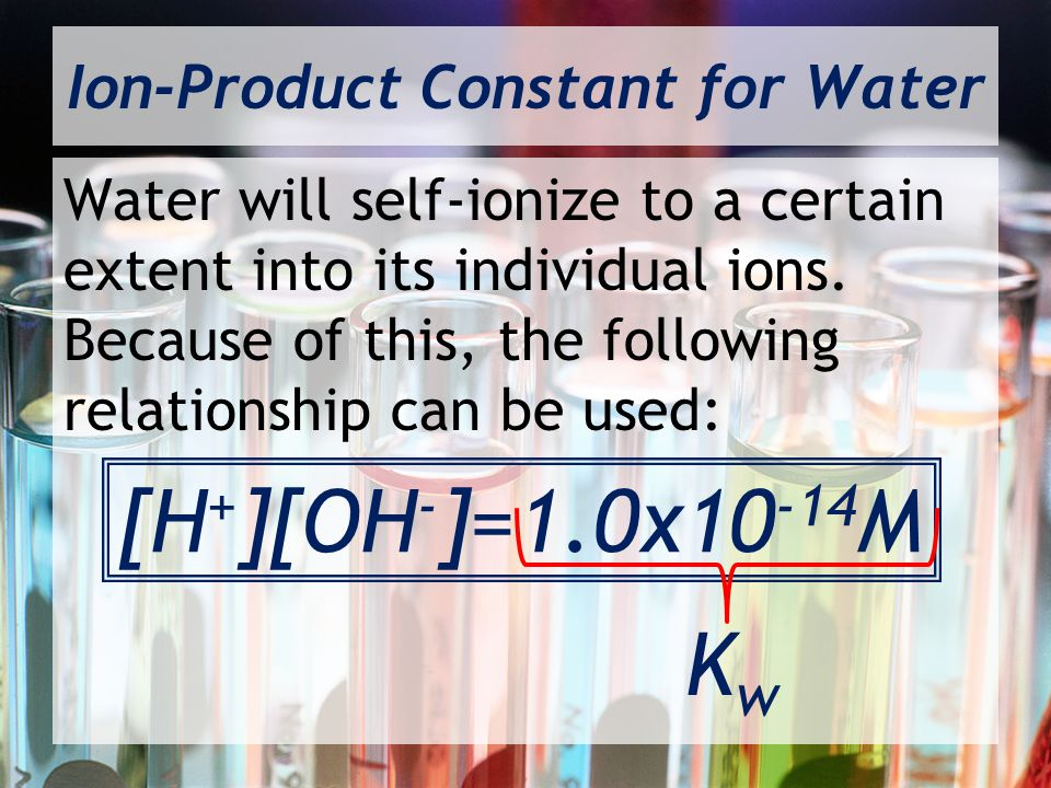 Ion-Product Constant for Water