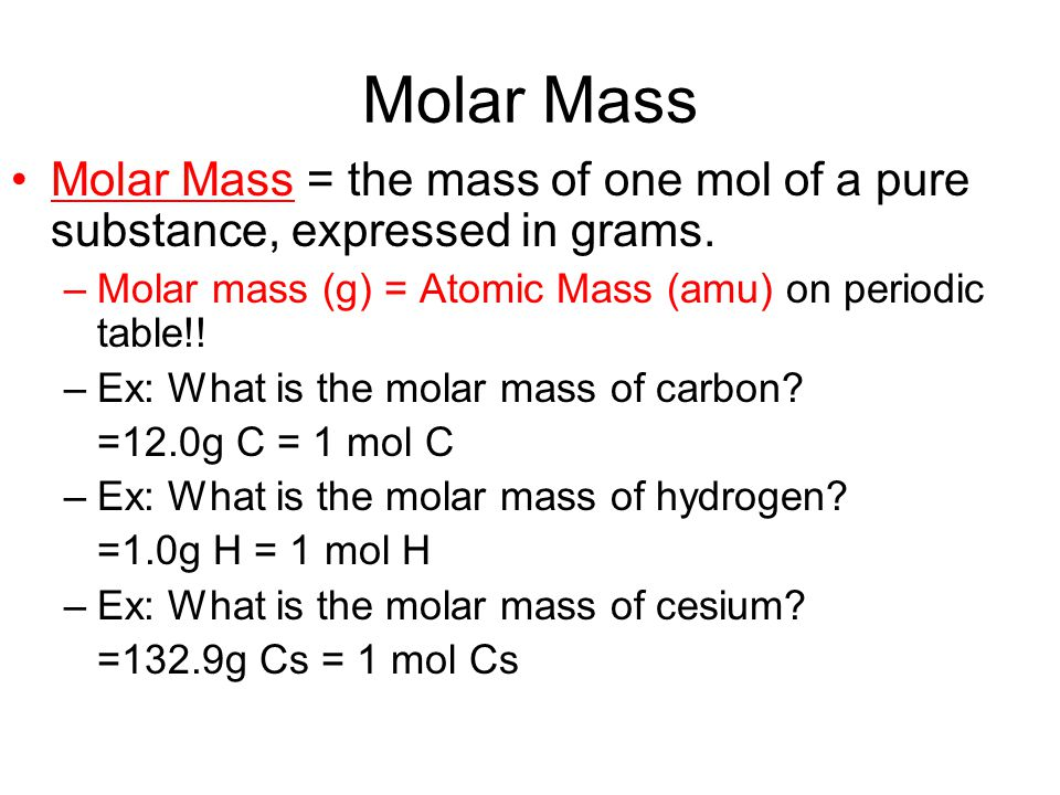 Periodic Table Periodic Table Of Molar Masses Periodic Table Of