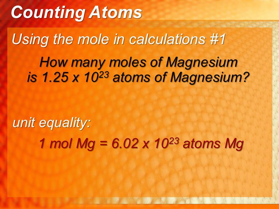 How many moles of Magnesium