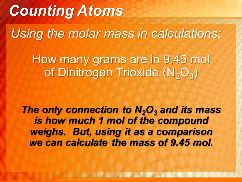 How many grams are in 9.45 mol of Dinitrogen Trioxide (N2O3)