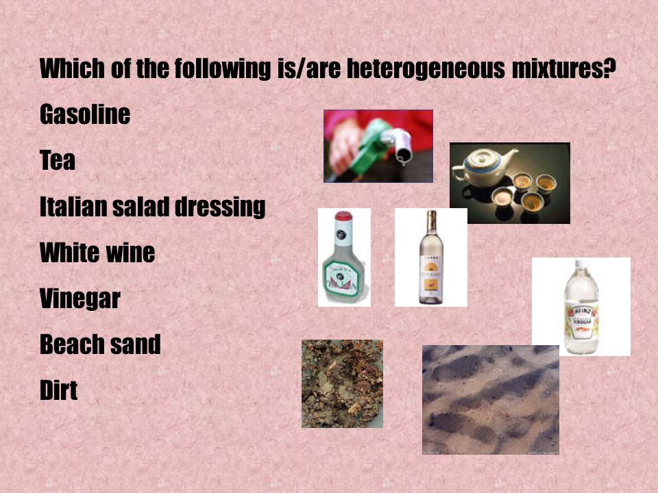 Which of the following is/are heterogeneous mixtures