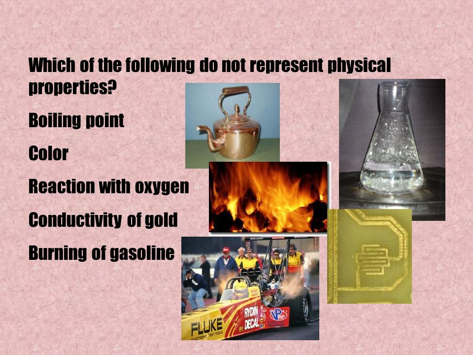 Which of the following do not represent physical properties