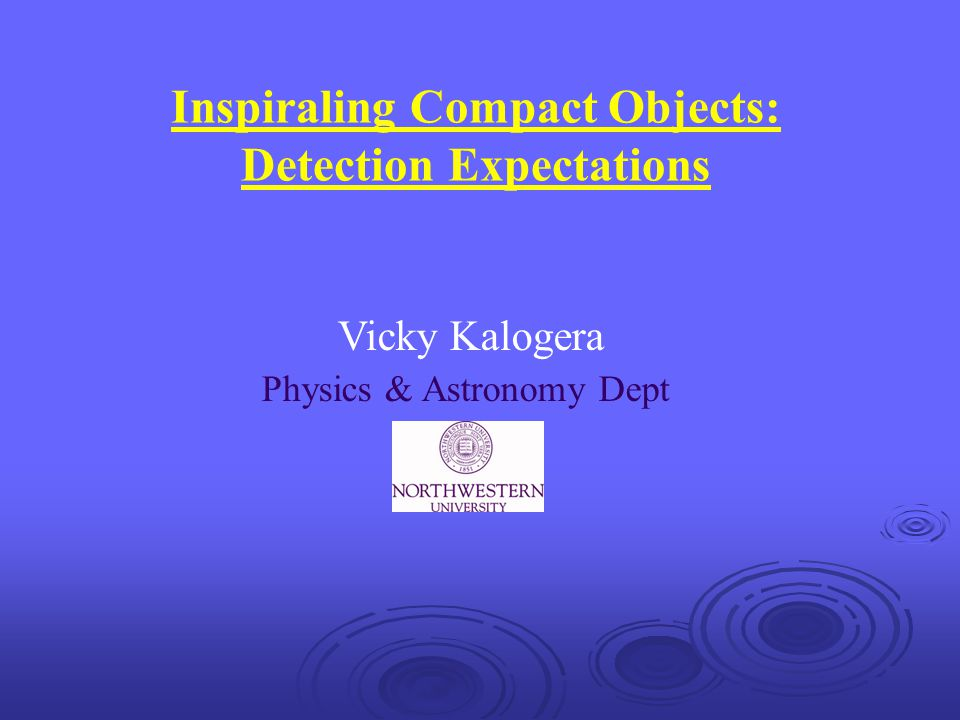 Inspiraling Compact Objects: Detection Expectations