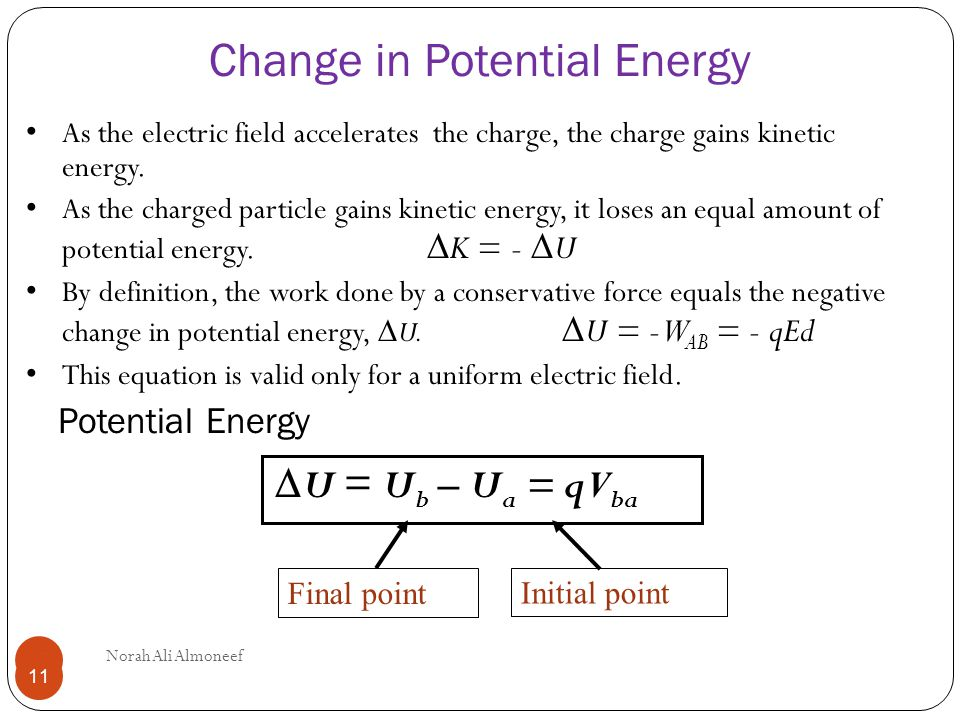 how to calculate change in energy