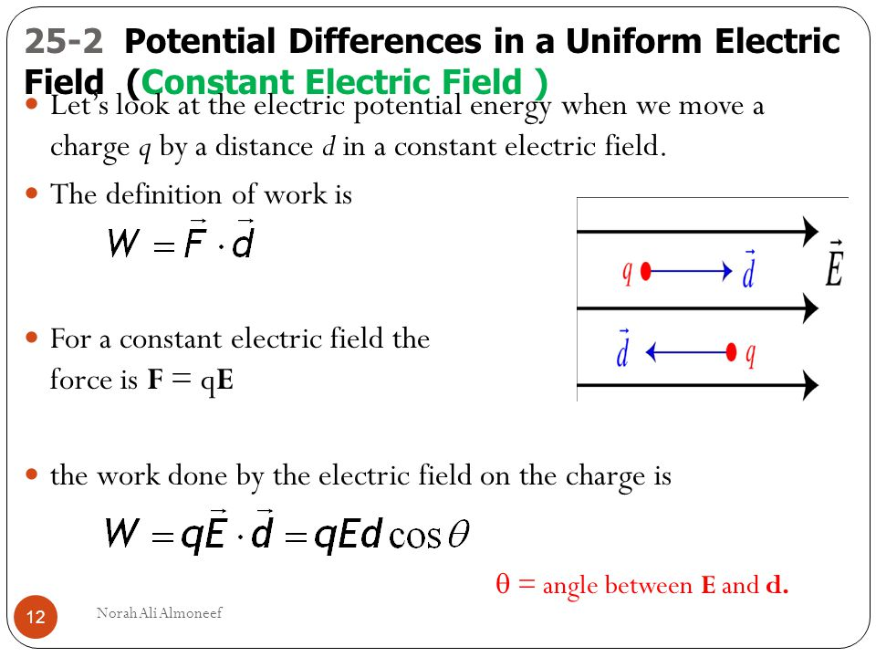 electric field and potential difference pdf