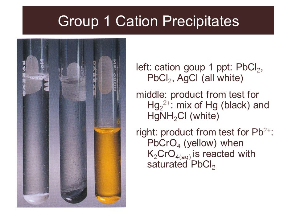 Group 1 Cation Precipitates