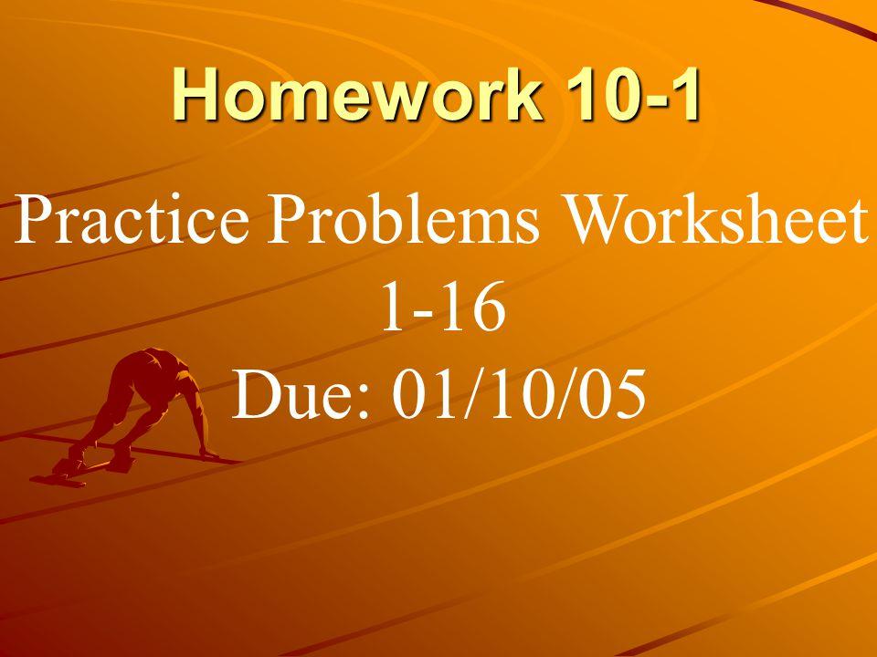Practice Problems Worksheet