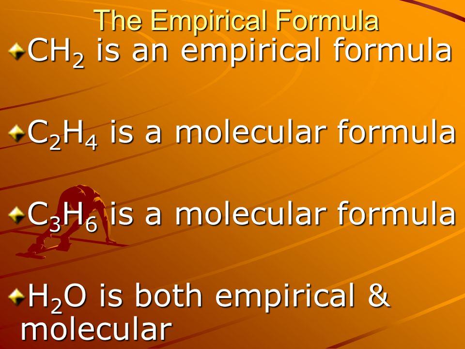 CH2 is an empirical formula C2H4 is a molecular formula
