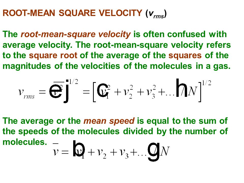 ROOT-MEAN SQUARE VELOCITY (vrms)