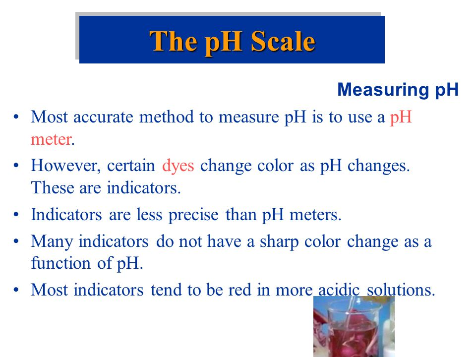 The pH Scale Measuring pH