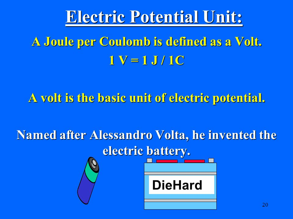 Electric Potential Unit: